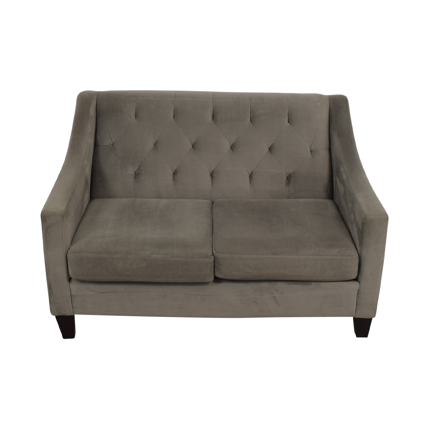 Macy's Macy's Grey Tufted Love Seat second hand
