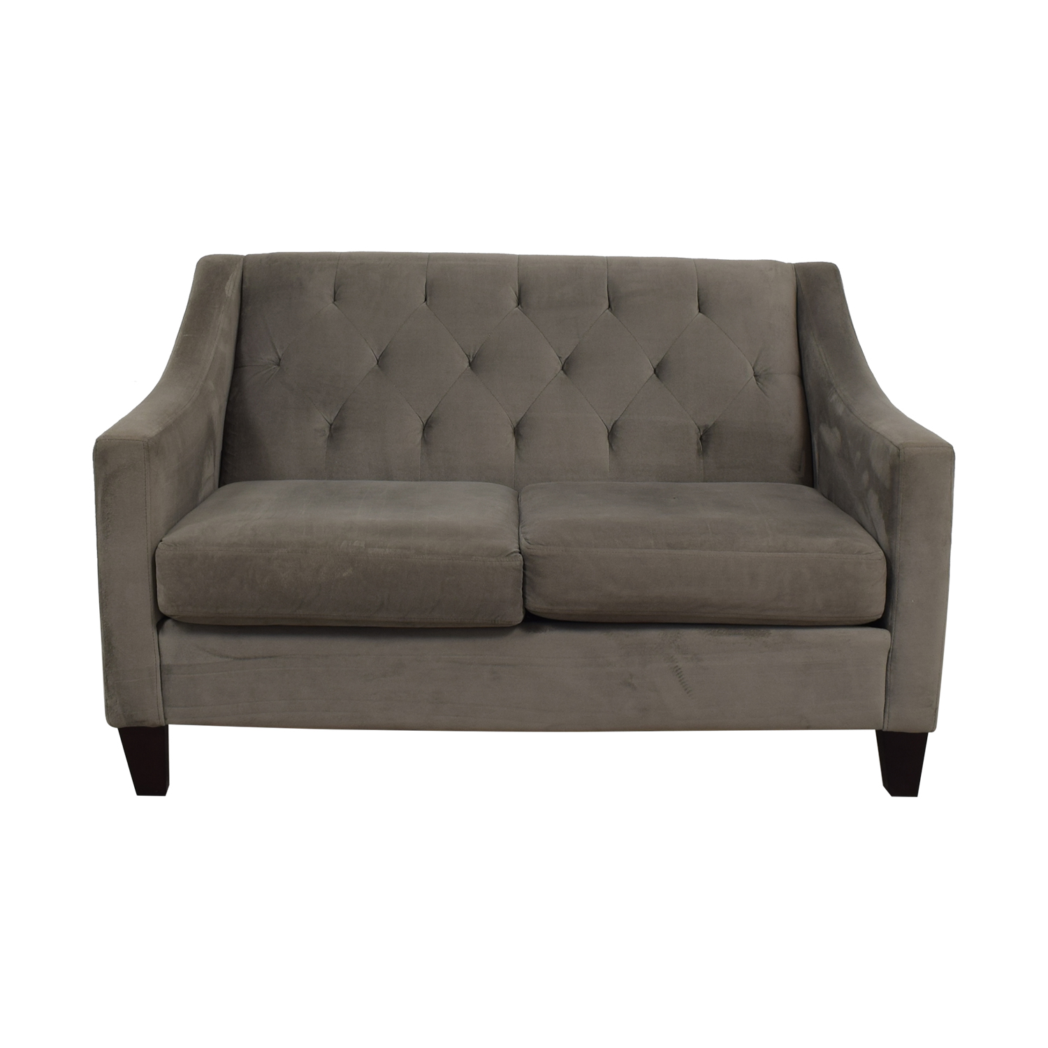 Macy's Macy's Grey Tufted Love Seat discount