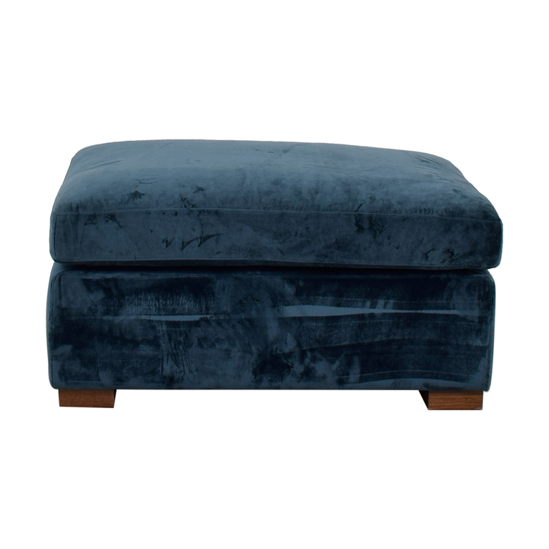 Charly Sapphire Ottoman discount