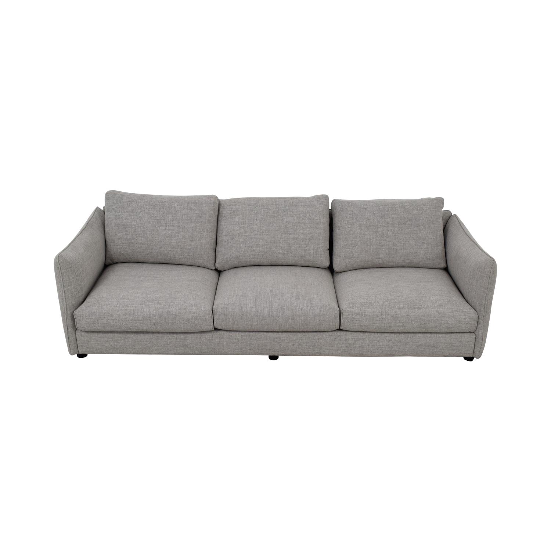 Harper Grey Three-Cushion Sofa for sale