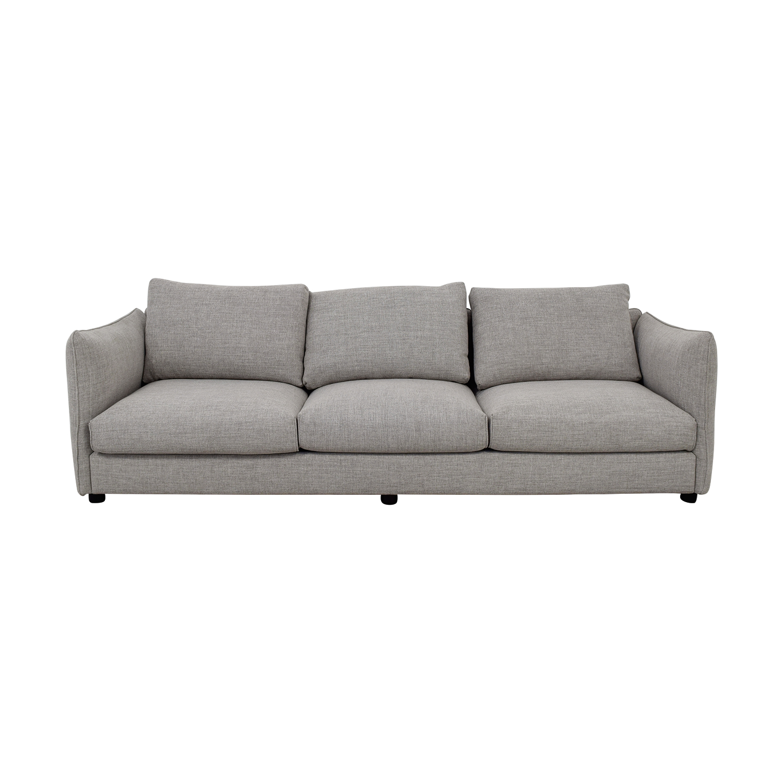 Harper Grey Three-Cushion Sofa