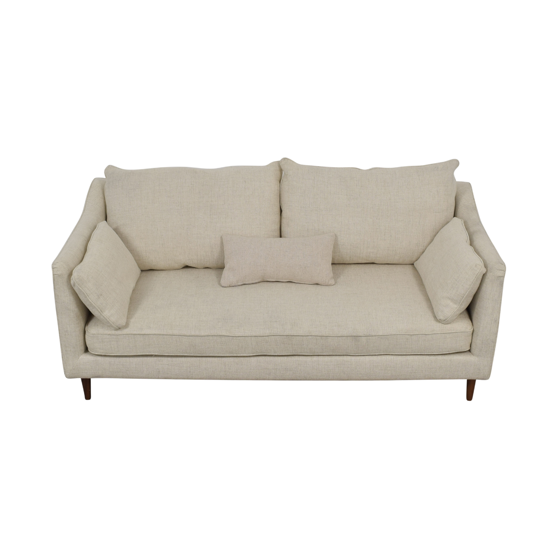 Caitlin Beige Pebble Weave Sofa nj