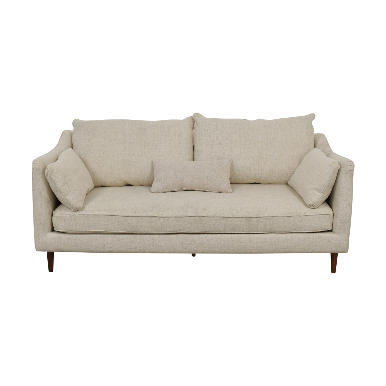 buy Caitlin Beige Pebble Weave Sofa  Sofas