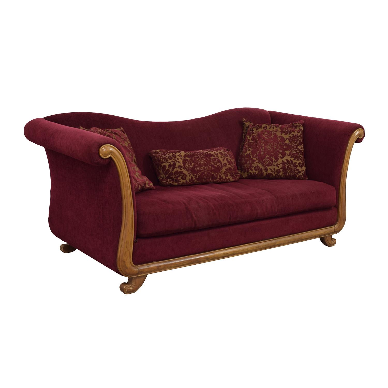 Surprising 81 Off Bernhardt Bernhardt Maroon Single Cushion Camel Back Sofa Sofas Andrewgaddart Wooden Chair Designs For Living Room Andrewgaddartcom