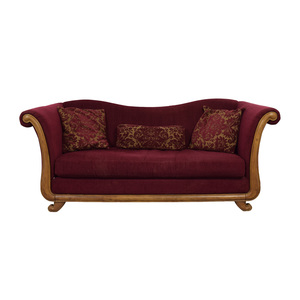 Bernhardt Bernhardt Maroon Single-Cushion Camel Back Sofa dimensions