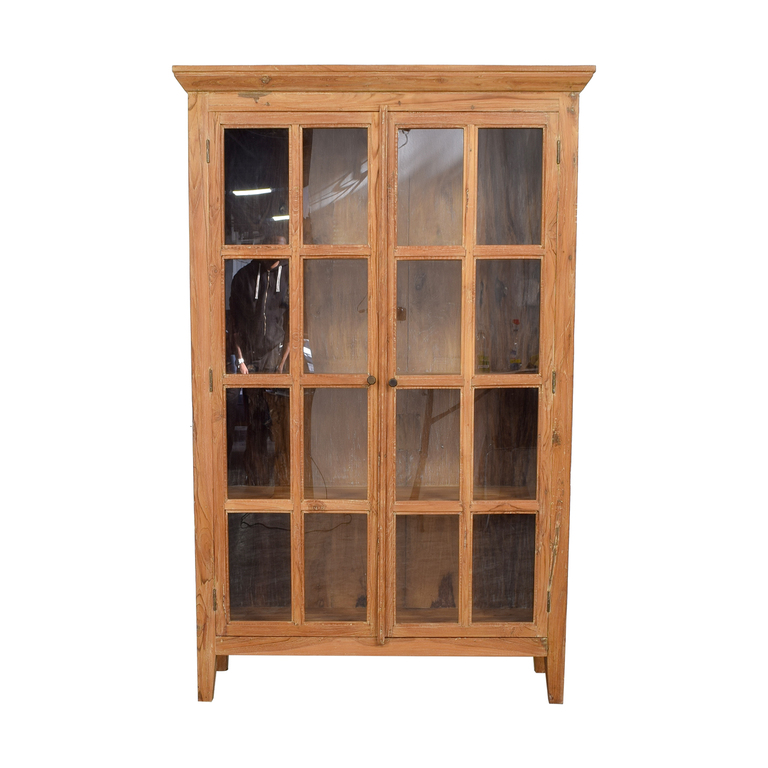 Wood Hutch with French Doors used