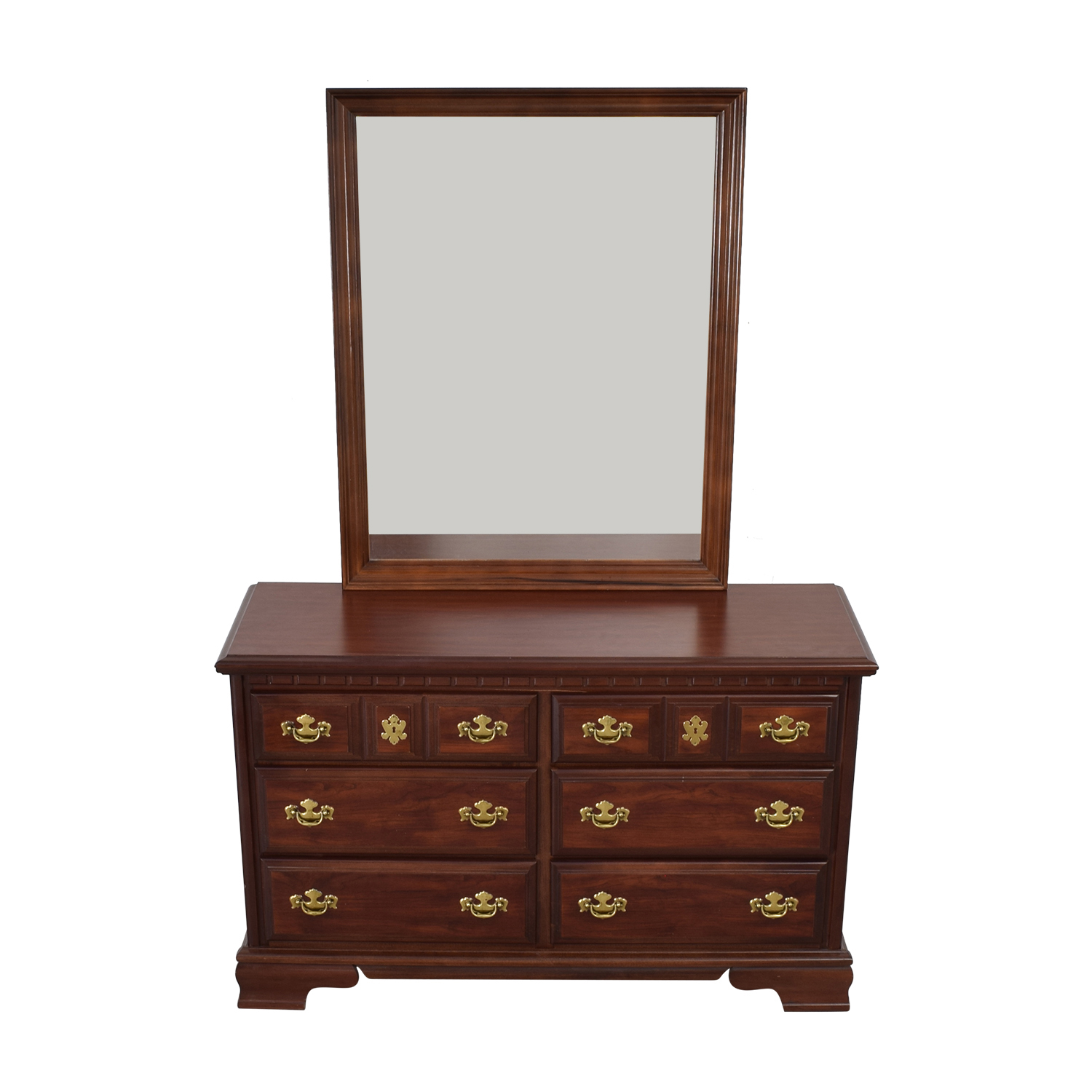 ... Shop Bassett Furniture Company Six Drawer Dresser With Mirror Bassett  Furniture Company Storage ...