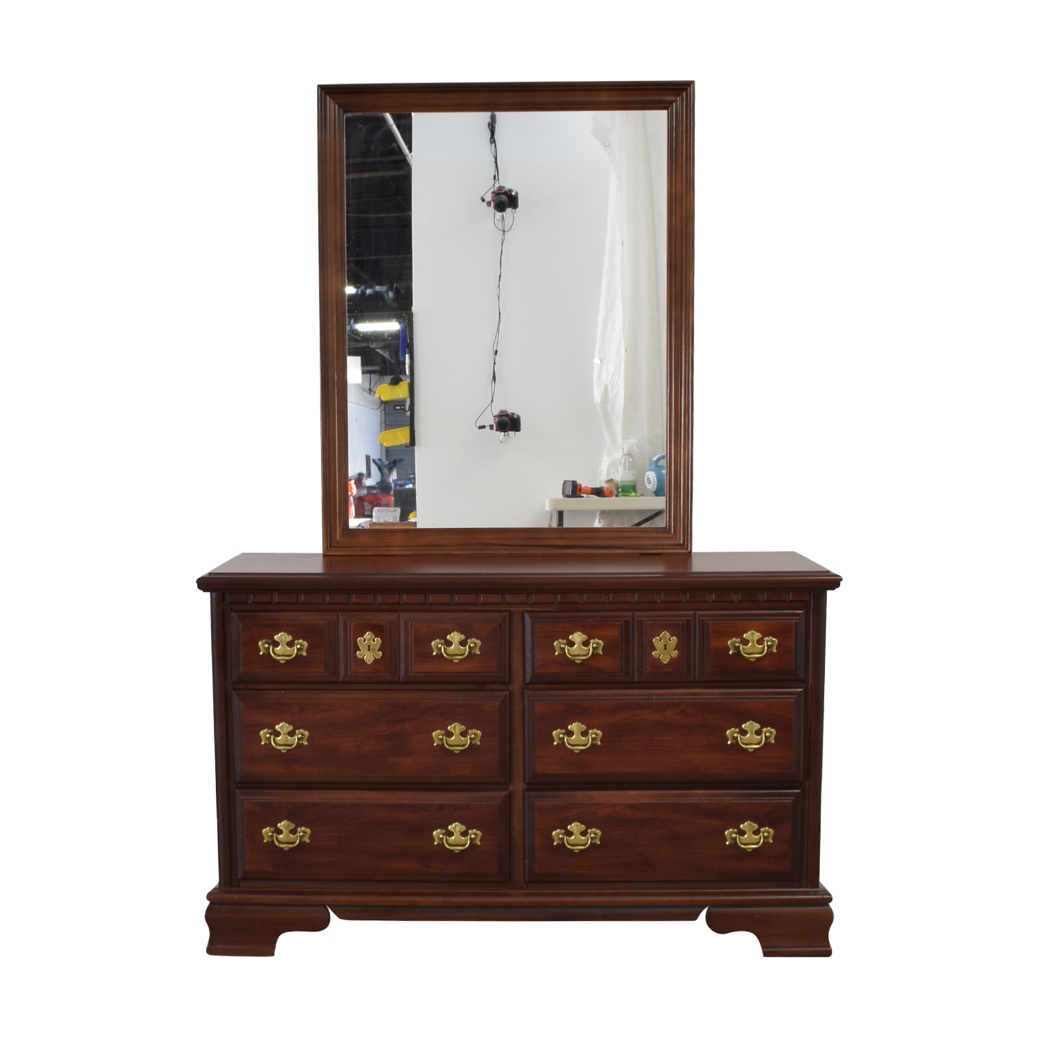 Bassett Furniture Company Bassett Furniture Company Six Drawer Dresser With  Mirror ...