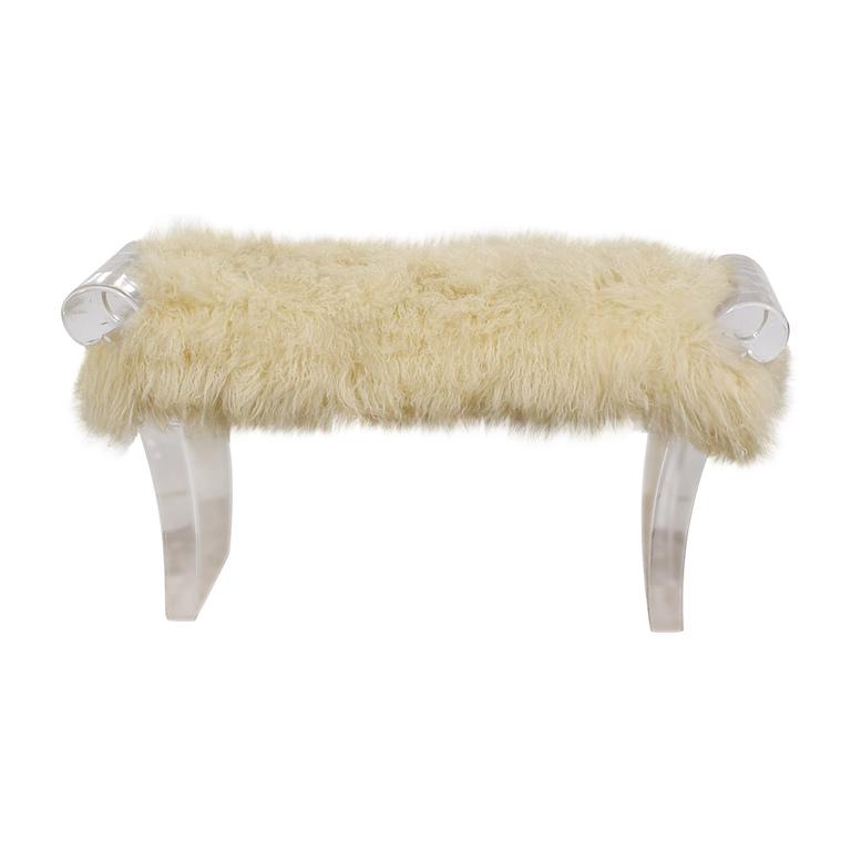 buy Furniture Masters White Flokati Ottoman Furniture Masters Chairs