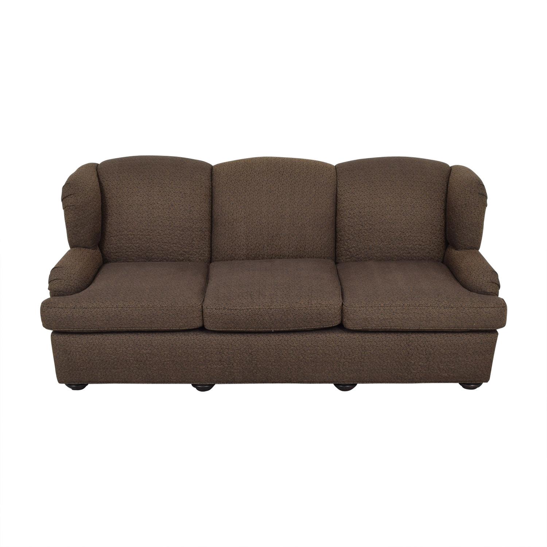 Furniture Masters Furniture Masters Brown Three-Cushion Sofa used