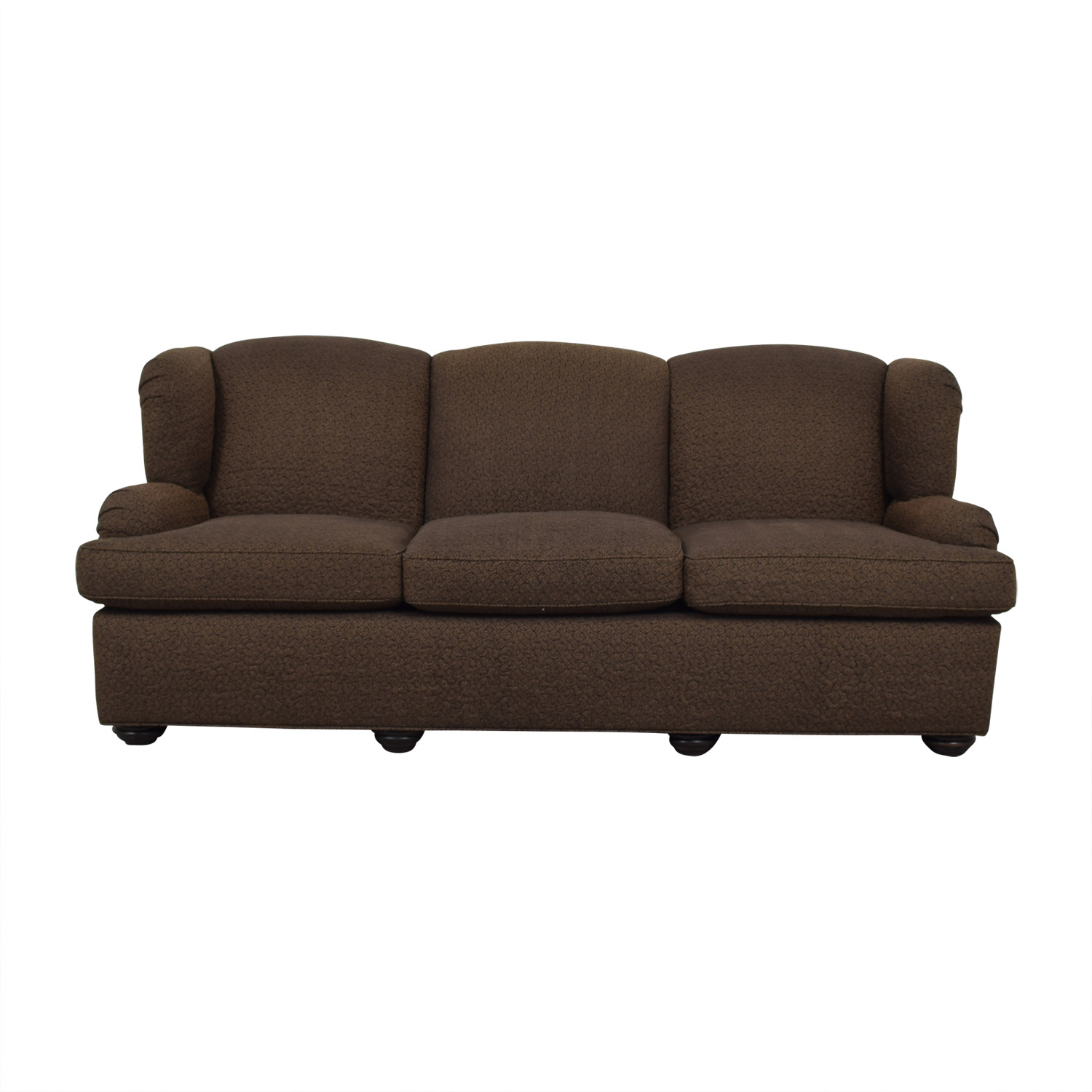 shop Furniture Masters Furniture Masters Brown Three-Cushion Sofa online