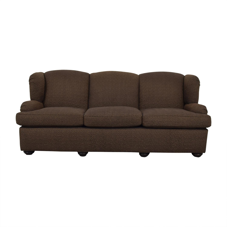 shop Furniture Masters Furniture Masters Brown Three-Cushion Sofa online