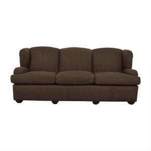 Furniture Masters Furniture Masters Brown Three-Cushion Sofa for sale