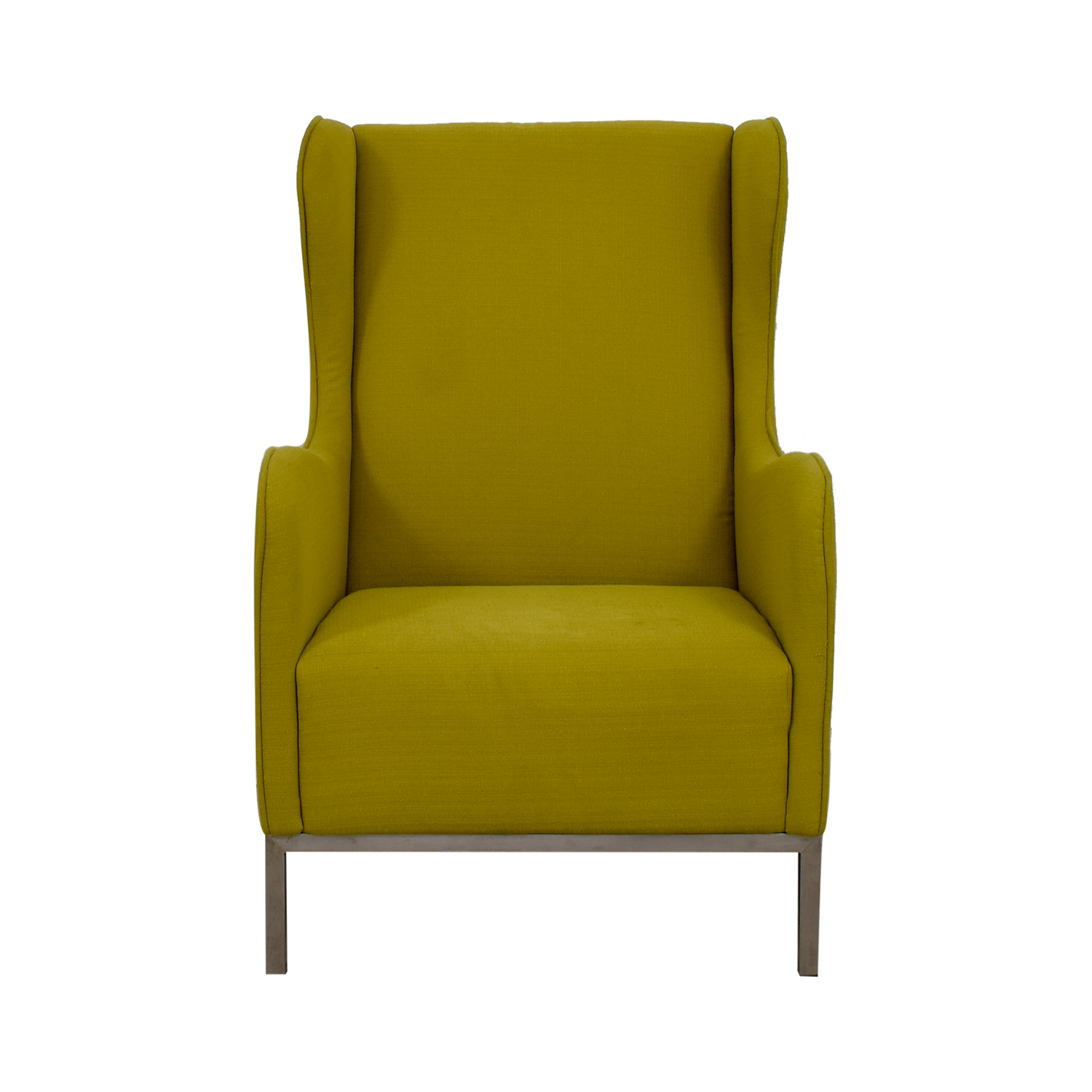 Crate & Barrel Crate & Barrel Neon Green Accent Chair second hand
