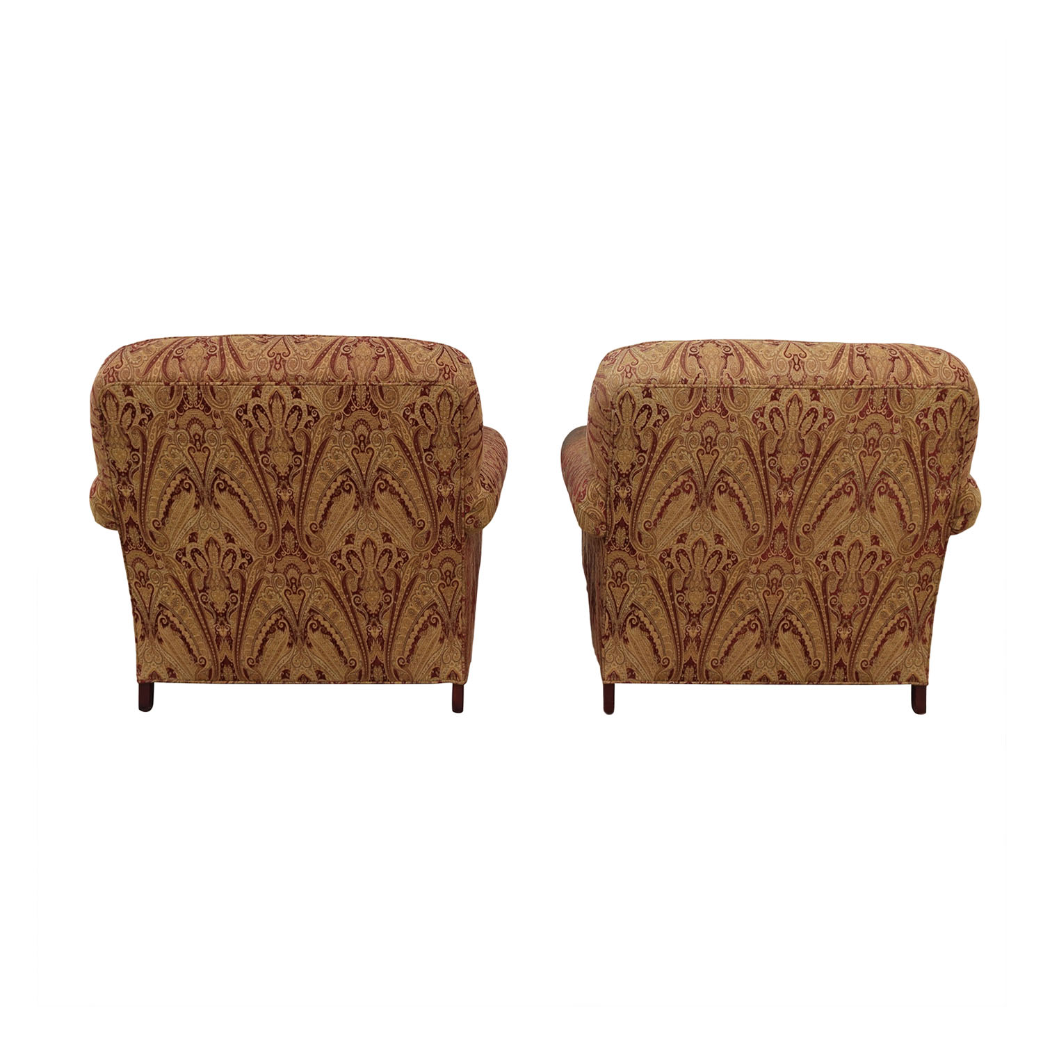 Charles Stewart Co.  Beige and Red Accent Chairs / Accent Chairs