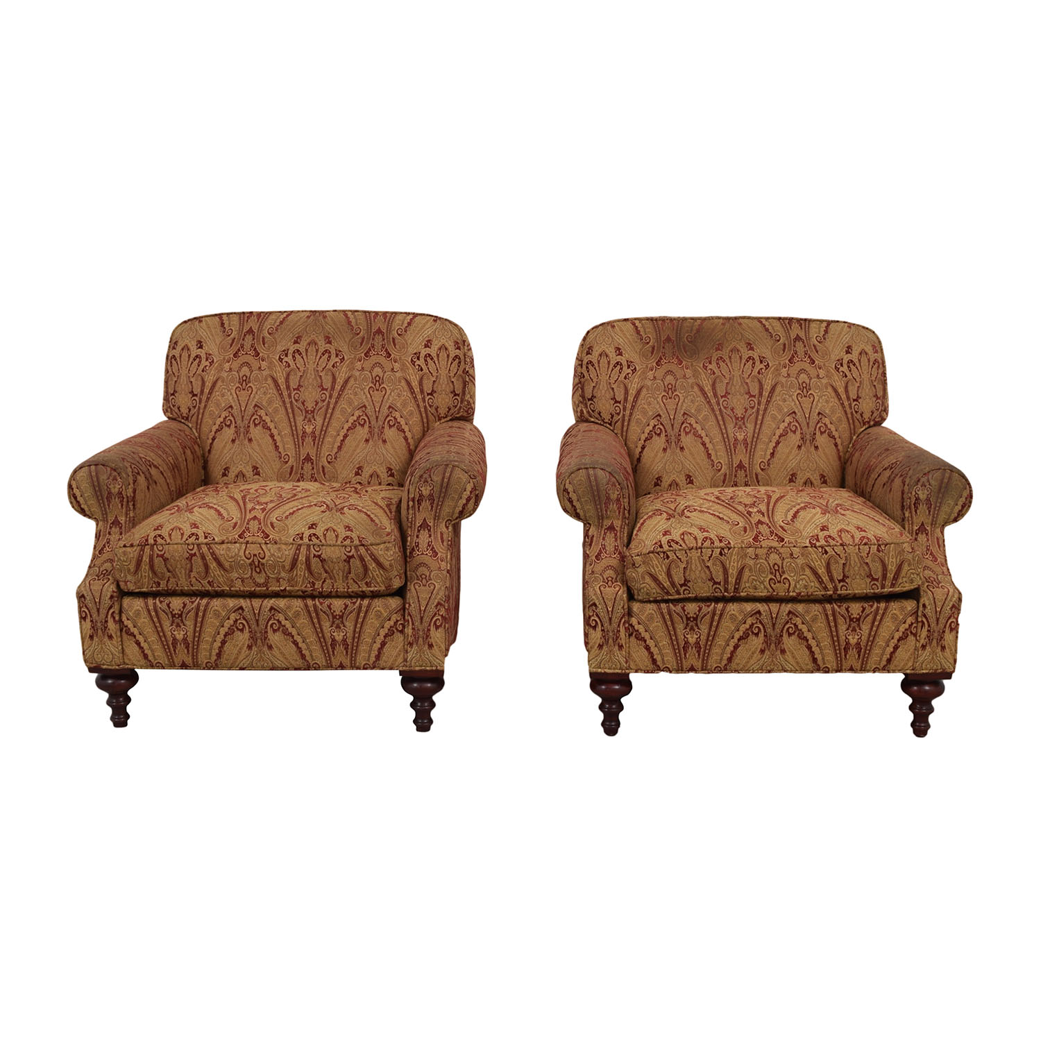 Charles Stewart Co. Charles Stewart Co.  Beige and Red Accent Chairs discount