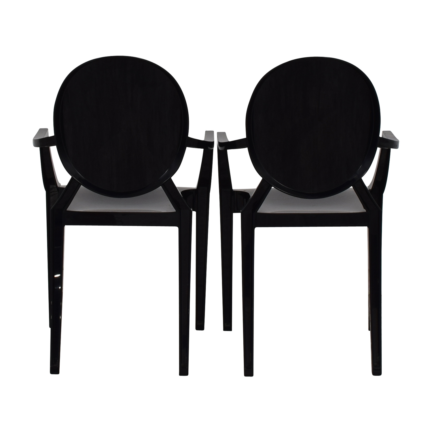 Kartell Philippe Starck for Kartell Louis Black Ghost Chairs nyc
