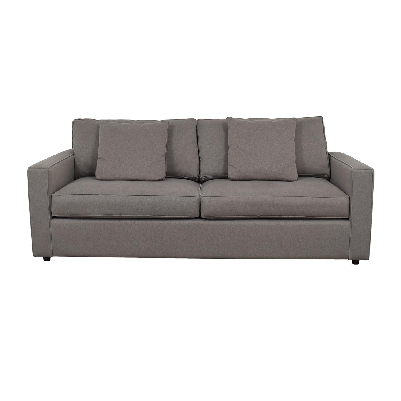 shop Room & Board York Destin Grey Two-Cushion Sofa Room & Board Classic Sofas