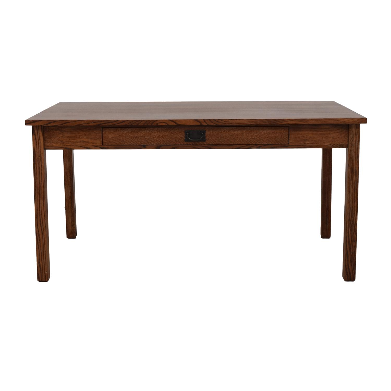 Mission Style Wood Desk on sale