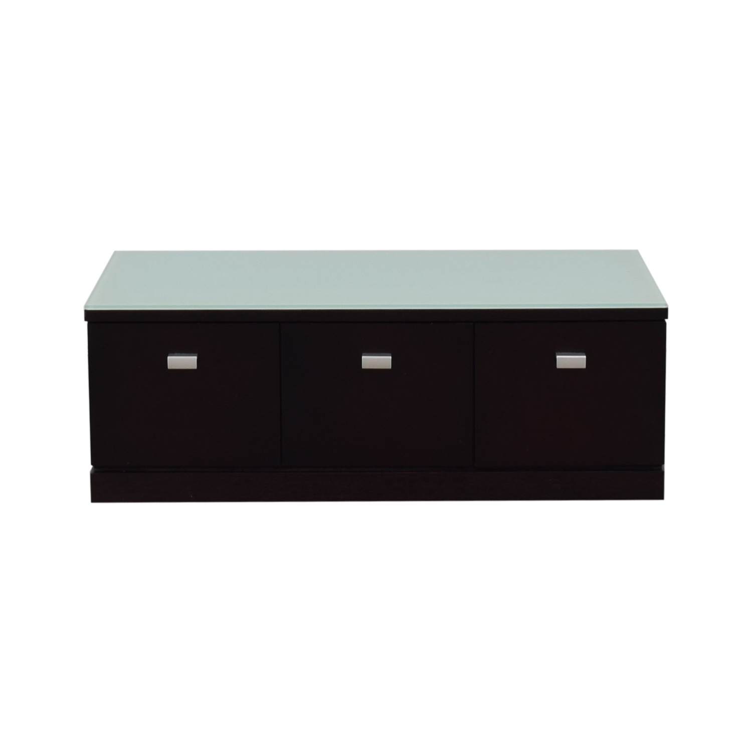 shop  Three-Drawer Wood with Tinted Glass Top Low Dresser online