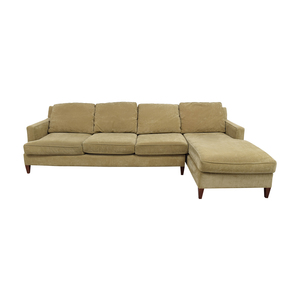 Mitchell Gold + Bob Williams Mitchell Gold + Bob Williams Beige Chaise Sectional on sale