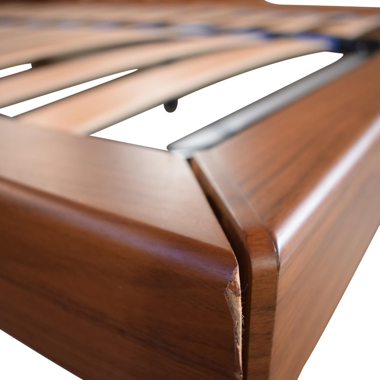 Wood Queen Platform Bed Frame dimensions