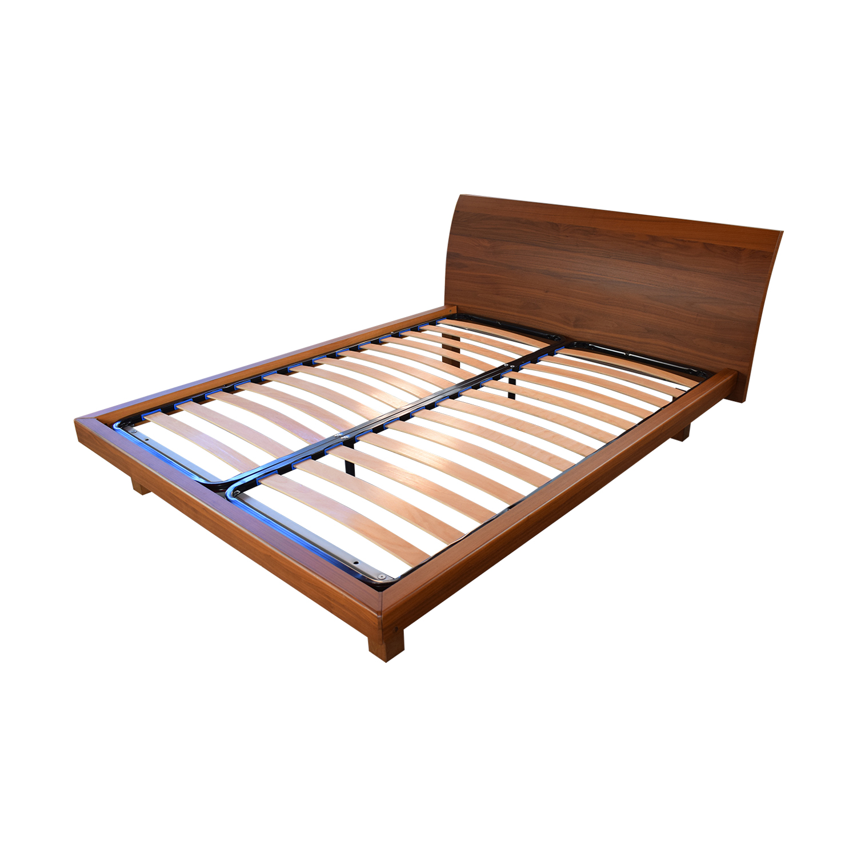 Wood Queen Platform Bed Frame used