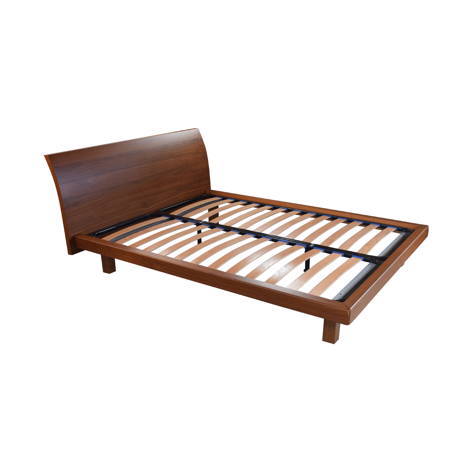 Wood Queen Platform Bed Frame on sale