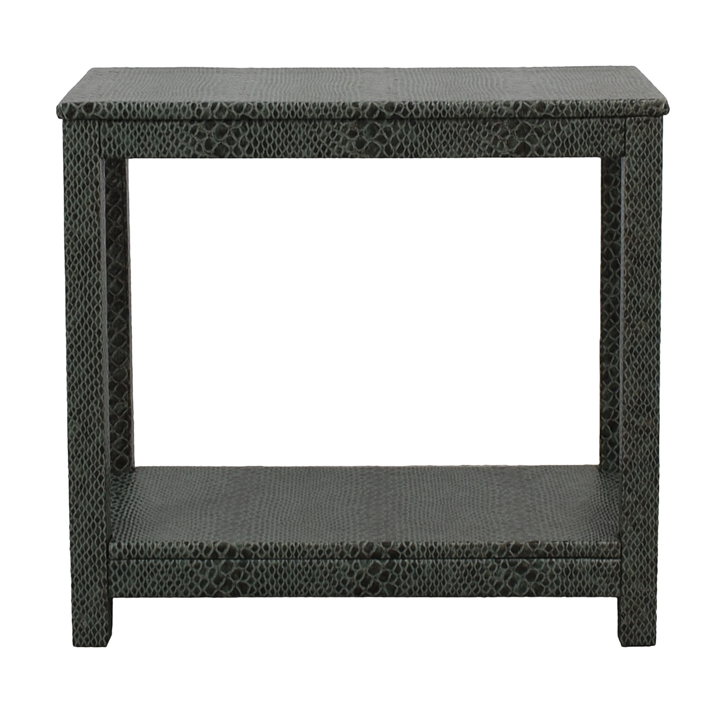buy Society Social Dark Green Faux Crocodile Leather Console Table Society Social Tables