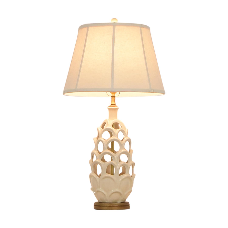 buy Honeycomb Beige Table Lamp  Decor