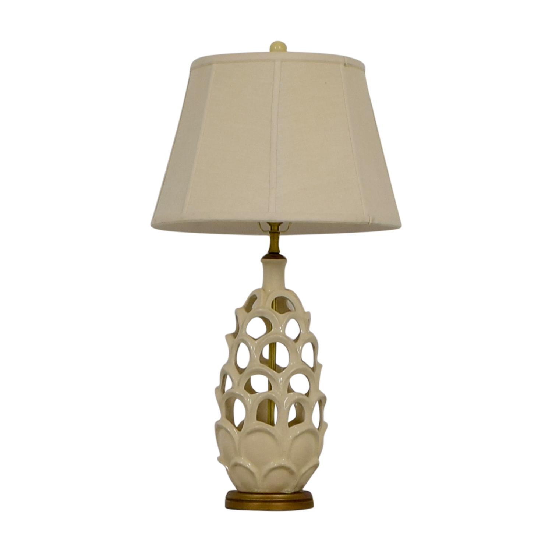 Honeycomb Beige Table Lamp