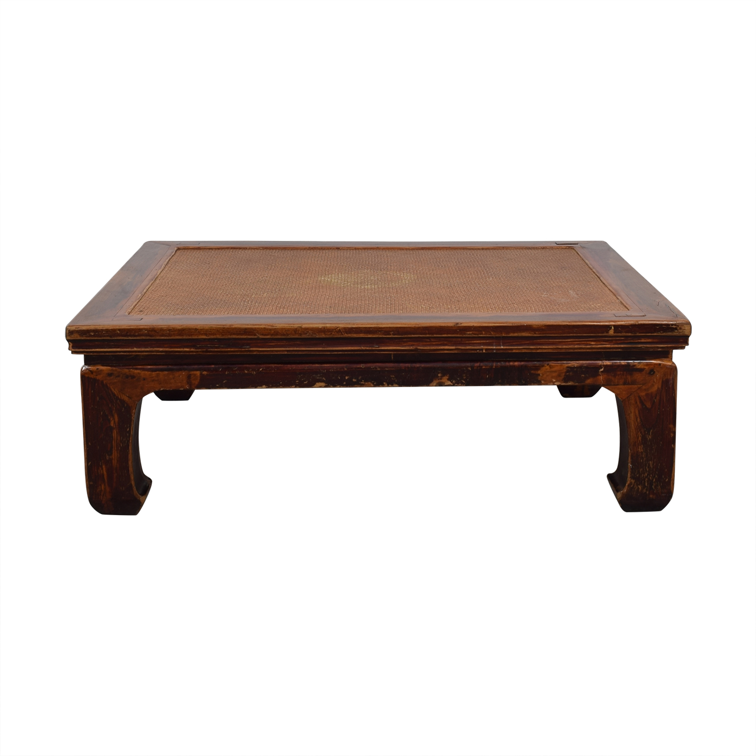 Antique 19th Century Korean Rosewood Low Coffee Table