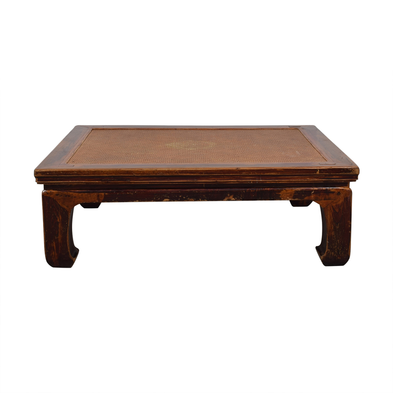 Antique 19th Century Korean Rosewood Low Coffee Table second hand