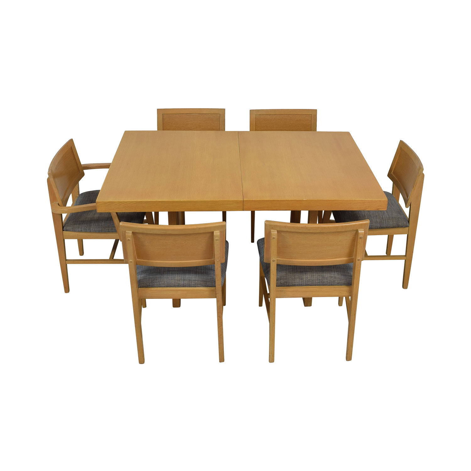 Mid-Century Extentable Dining Set dimensions