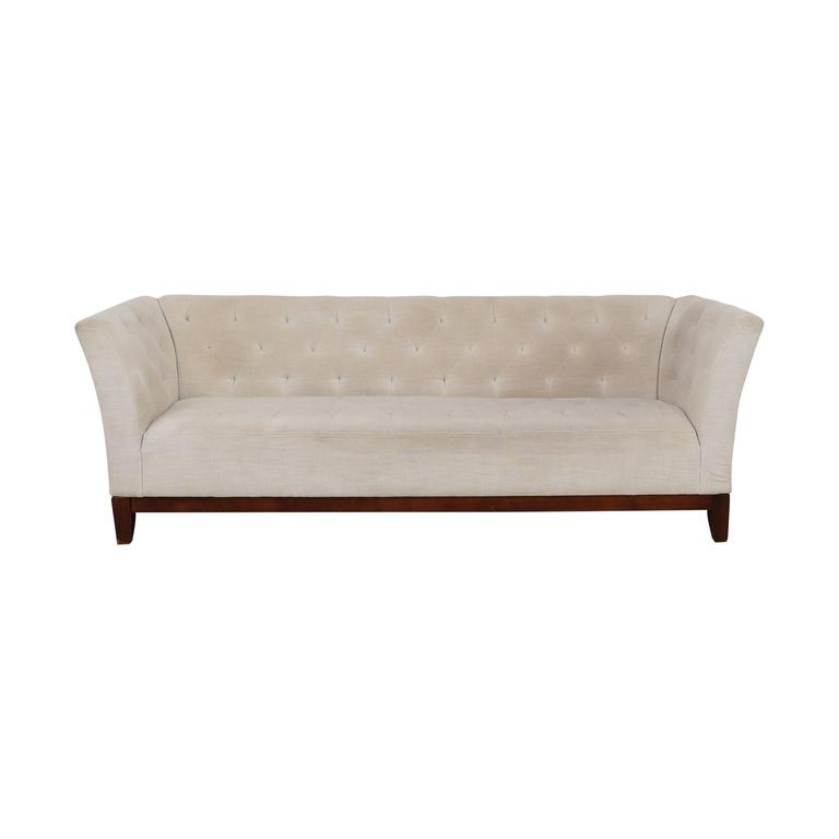 buy Macy's Macy's Lisbeth White Tufted Single Cushion Sofa online