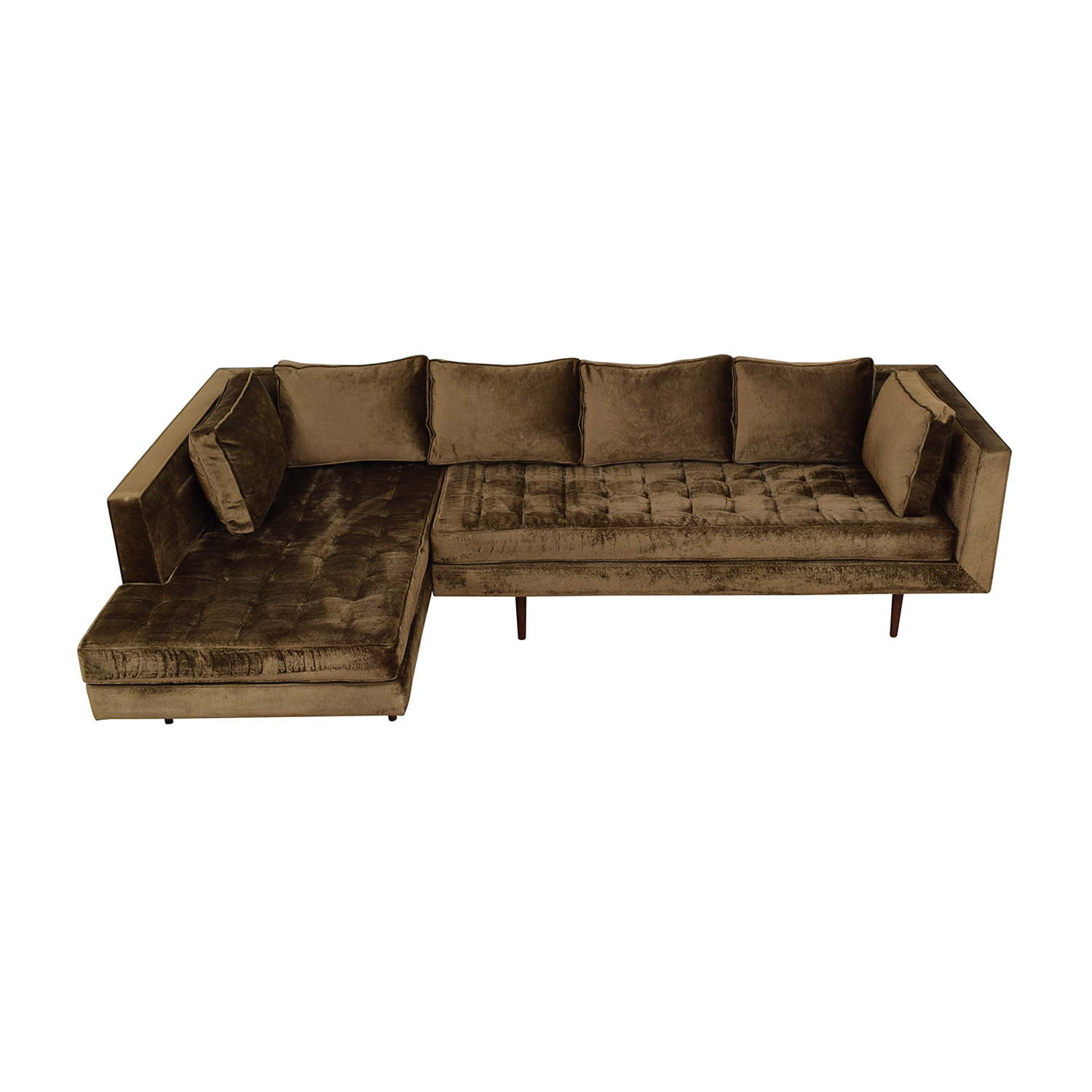 buy Daniel Donnelly Custom L-Shaped Chaise Sectional Daniel Donnelly Sectionals