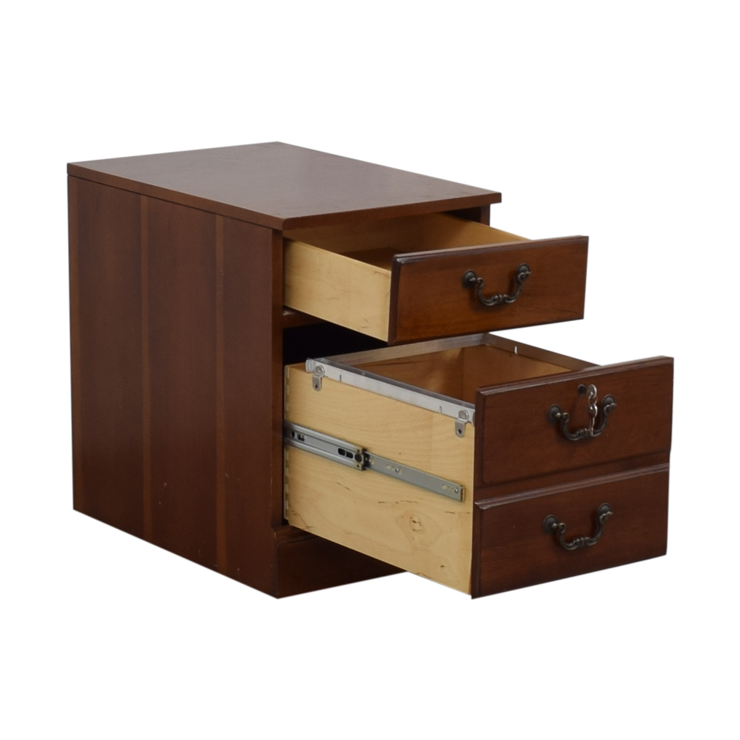 Hooker Wood Two-Drawer Filing Cabinet / Tables