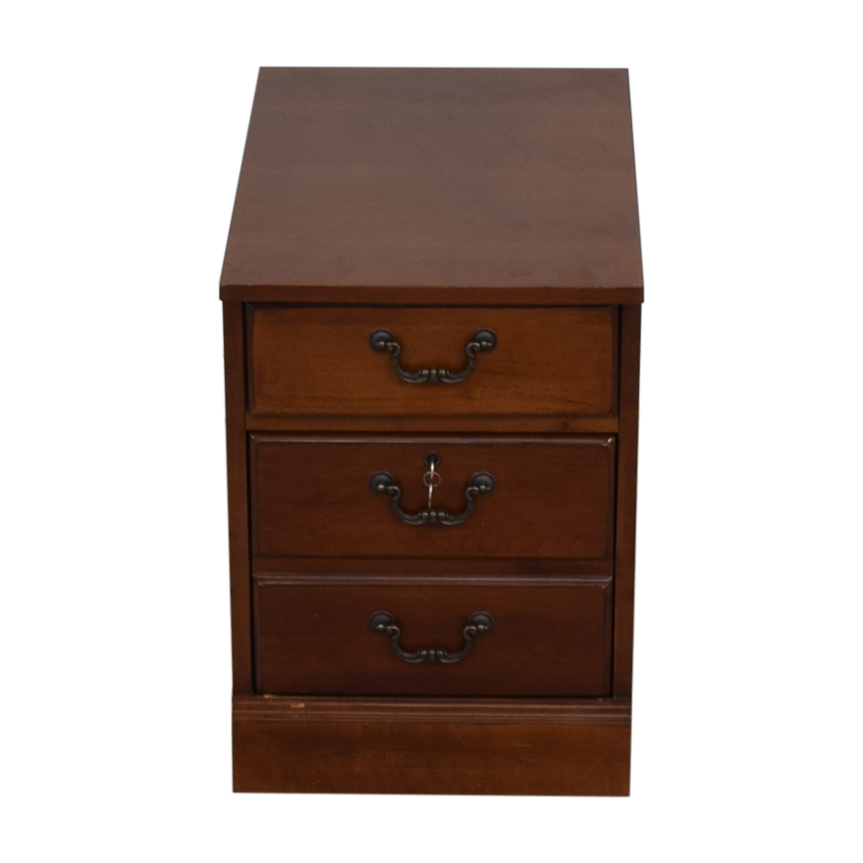 Hooker Hooker Wood Two-Drawer Filing Cabinet nj