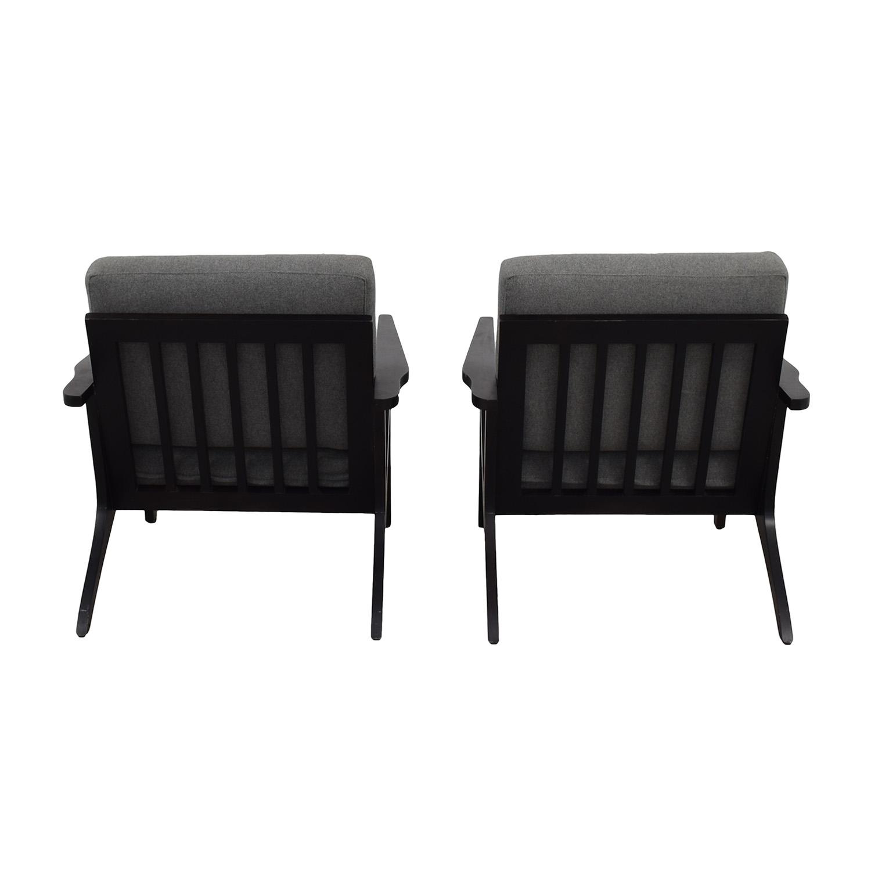Room & Board Room & Board Sanna Gray Accent Chairs nyc