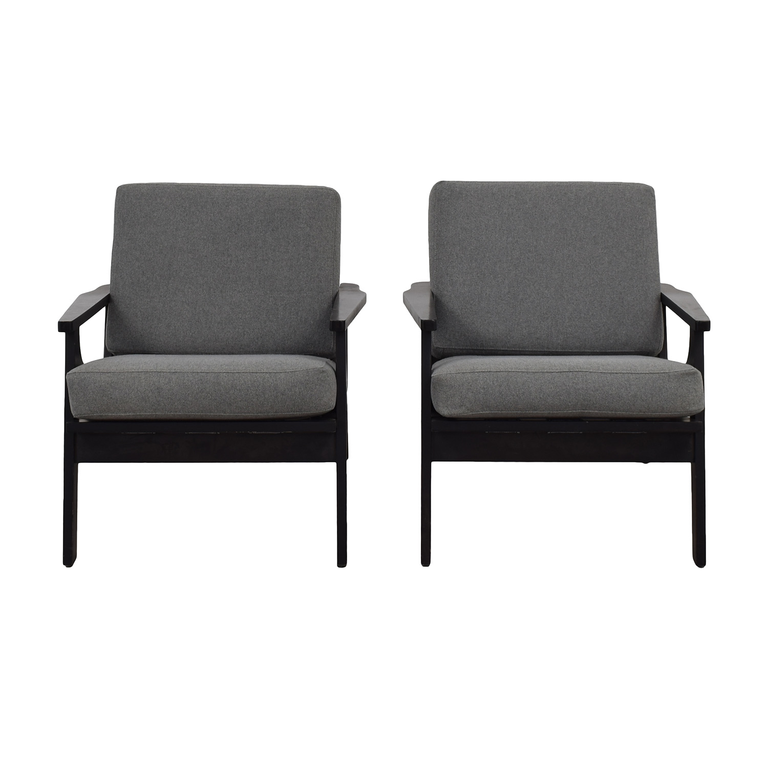 Room & Board Room & Board Sanna Gray Accent Chairs second hand