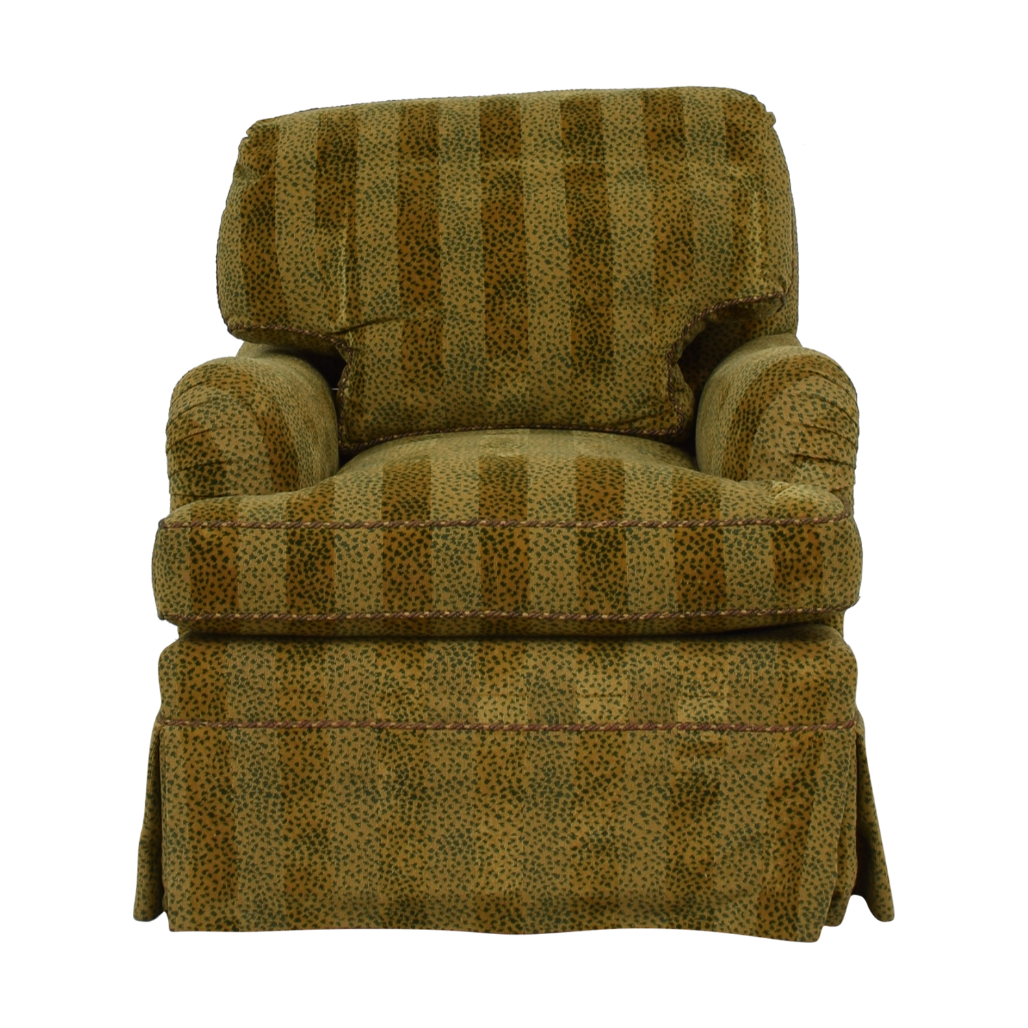 Furniture Masters Gold Cougar Striped Accent Chair sale