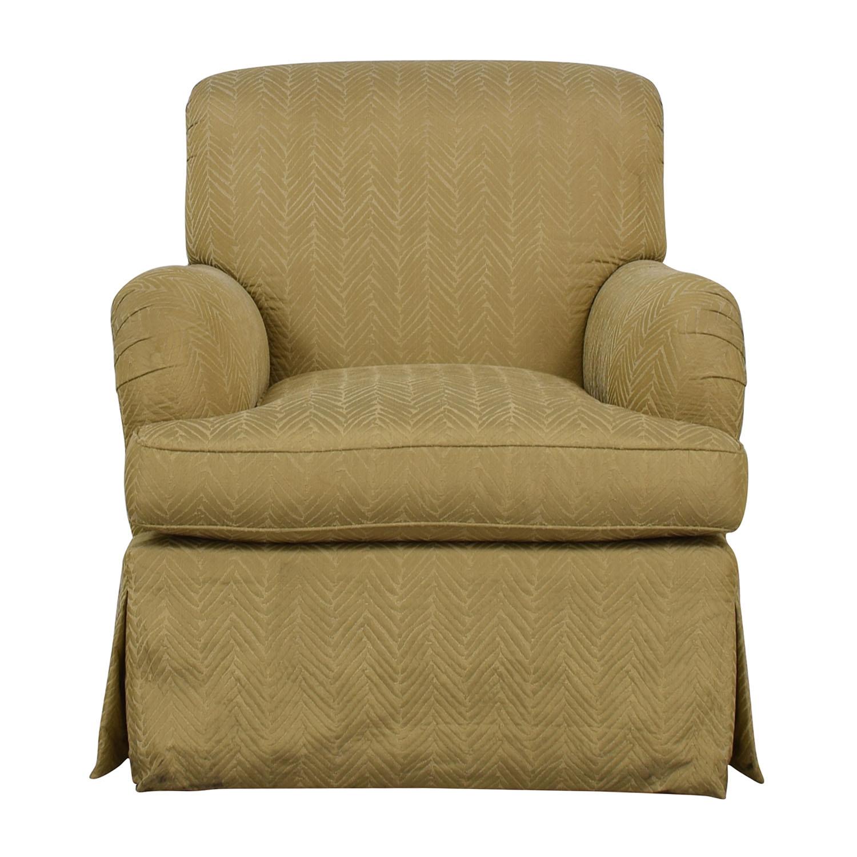 Furniture Masters Furniture Masters Tan Skirted Club Chair