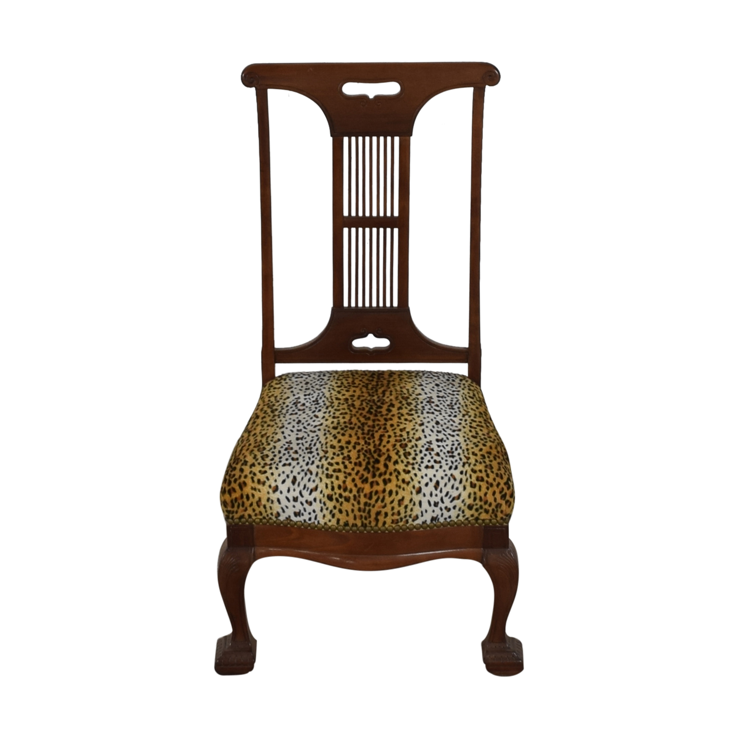 buy Furniture Masters Furniture Masters Leopard Upholstered Wood Dining Chair online