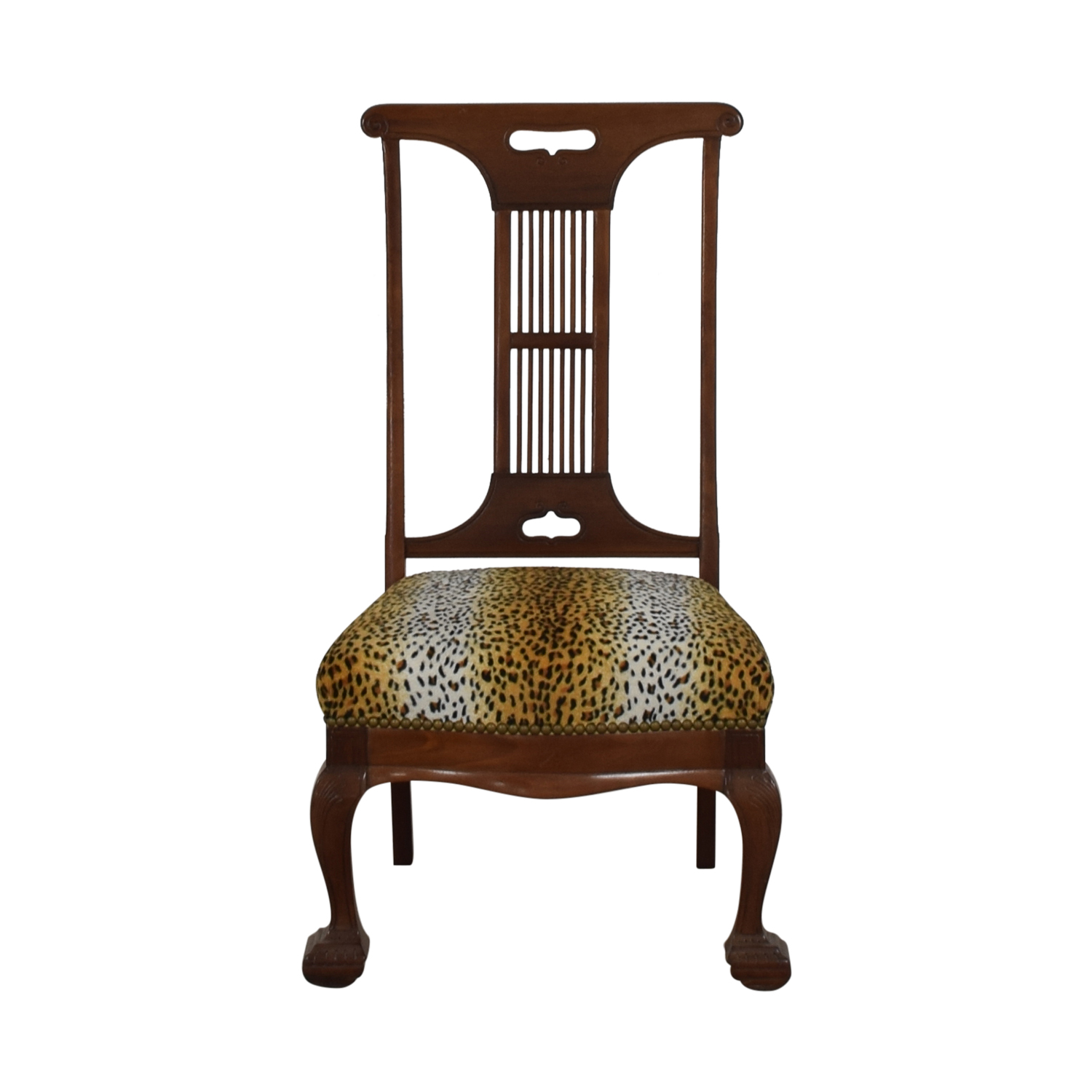 Furniture Masters Furniture Masters Leopard Upholstered Wood Dining Chair nj