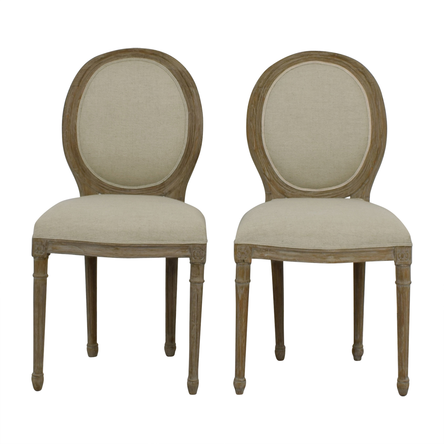 Furniture Masters Furniture Masters Beige Upholstered Dining Chairs price