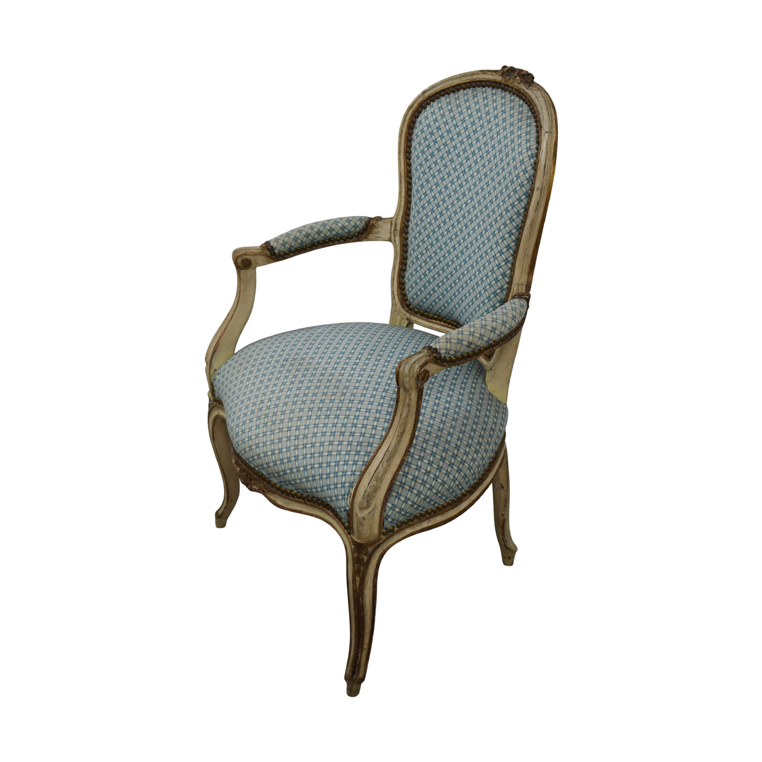 Pleasing 84 Off Furniture Masters Furniture Masters Blue And White Accent Chairs Chairs Ibusinesslaw Wood Chair Design Ideas Ibusinesslaworg