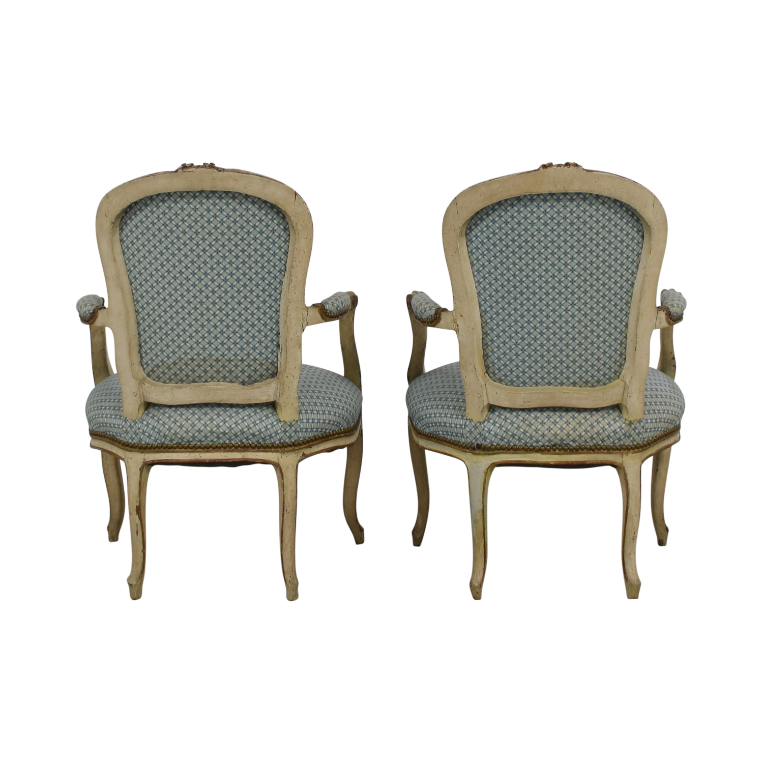 Furniture Masters Blue and White Accent Chairs / Chairs
