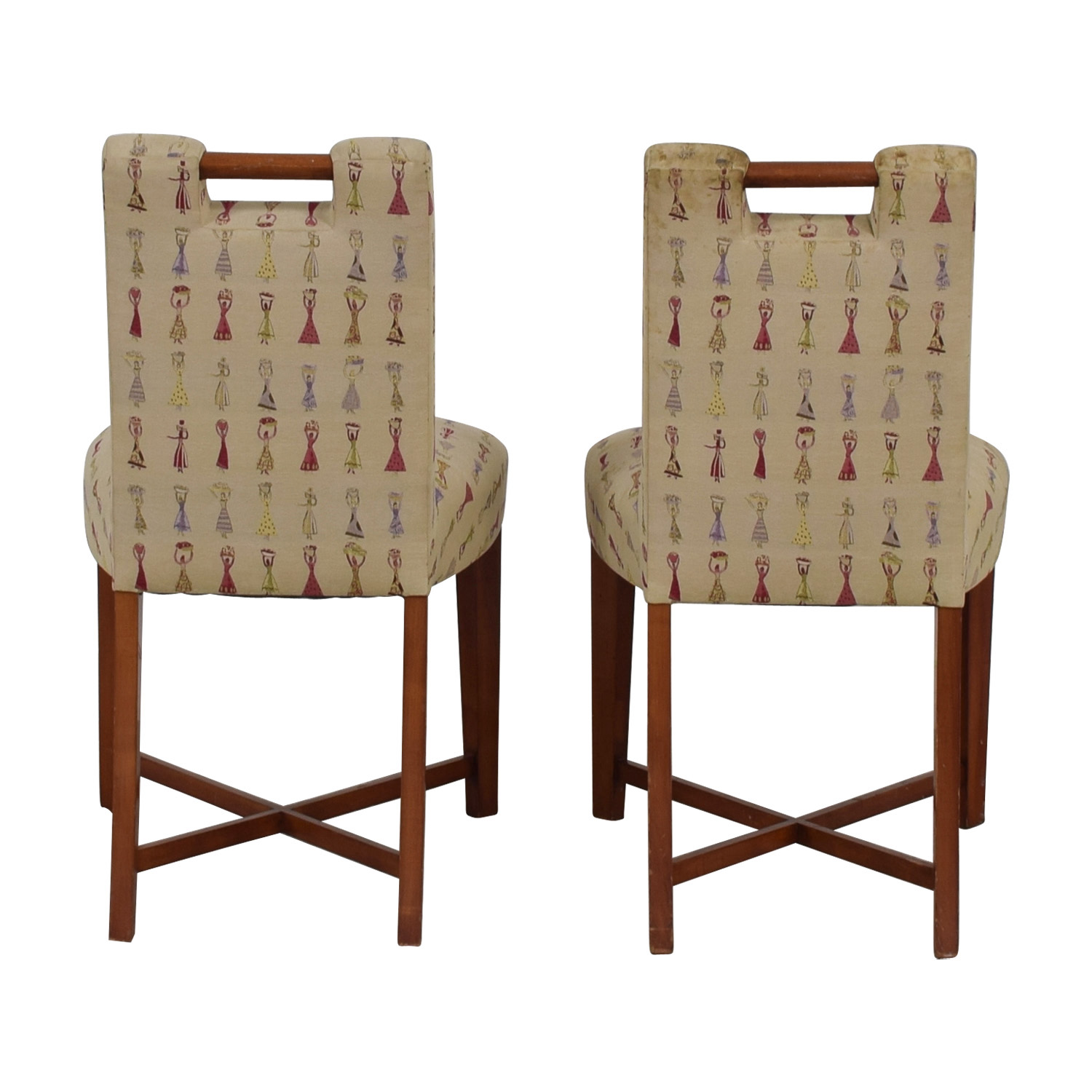 Furniture Masters Embroidered Dress Accent Chairs Furniture Masters