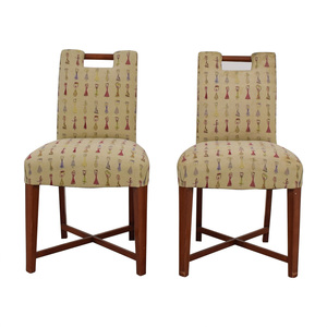 Furniture Masters Furniture Masters Embroidered Dress Accent Chairs second hand