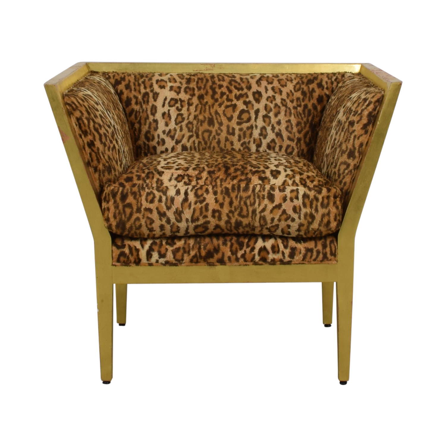 Furniture Masters Furniture Masters Leopard Distressed Accent Chair Accent Chairs